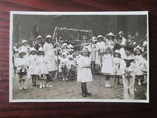 CHILDREN'S PROCESSION MANCHESTER ?  VINTAGE 1920s RP POSTCARD