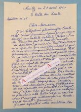 L.A.S 1951 Germaine ACREMANT Romancière née Saint Omer Jacques-Yves Le Toumelin