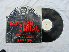 SACRED DENIAL LP SIFTING THROUGH REMAINS forefront 005 + extras  33rpm / punk