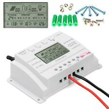 Solar Panel 20A 12V/24V MPPT Charge Controller Three timer Light + Screw US WT