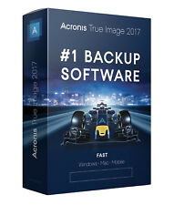Acronis True Image 2017 3 Computers PC/Mac/Mobile/Android/iOS #1 Backup Software