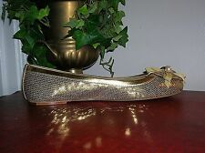 Coach Abigail Gold Leather Slip On Flats Shoes Womens Flats/Shoes Size 9.5 new