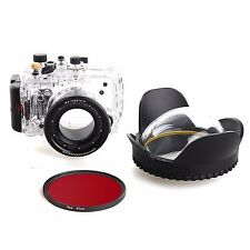 Meikon 40m/130f Underwater Housing Case Fisheye Lens kit For Sony DSC-RX100III