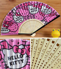 New Design Super Cute Hello Kitty Bamboo Folding Fan Pink Summer Fan
