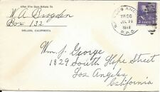 U.S. - RPO - SAN FRANCISCO & LOS ANGELES, TRAIN 56, JULY 29, 1940 COVER