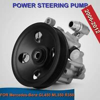 Power Steering Pump For 06-11 Mercedes Benz ML350 ML550 GL450 R350 w/Pulley