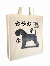 Kerry Blue Dog Reusable Cotton Shopping Bag Tote with Gusset and Long Handles