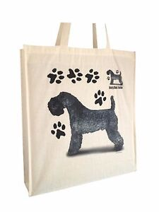 Kerry Blue Dog Reusable Cotton Shopping Bag Tote with Gusset & Long Handles