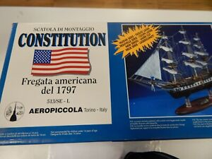 Constitution wooden ship model by AEROPICCOLA ITALY