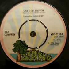 """BAD COMPANY Can't Get Enough UK 7"""" 1974 Ex. Cond FREE POST"""