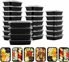 50 Pack 28 Oz Meal Prep Containers Reusable Food Storage Disposable Plastic