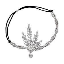 Great Gatsby Crowns Daisy 1920s Flapper Retro Headpiece Silver Ivory Headband