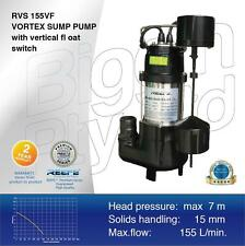 Reefe RVS155 V/Float Submersible Sump Pump  Dirty Water, Grey Water, Waste Water