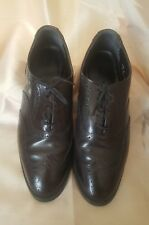 Men's Dark  Brown Leather  Oxford Shoes Size 10 1/2