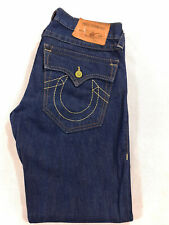 Men's True Religion Jeans 35 x 30 (tag 32) Ricky Straight Leg in Blue RRP £180