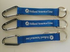 Holland America lanyards/carabiners/key rings, lot of 3 NWT