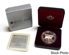 1985 Canada National Parks Silver Dollar Commemorative with Original Packaging