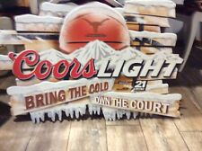 Texas Longhorn Coors Light Metal Beer Sign 24x35