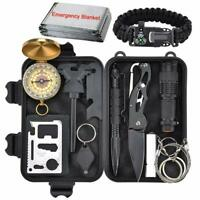 12PCS Outdoor Camping Survival Gear Kit Military Tactical EDC Emergency Tools