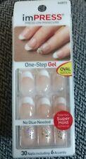 Kiss Impress Press-On French Manicure Oval Nails # 64873 Pop Star New HTF