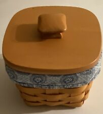 Longaberger 2000 Teaspoon Basket Combo w/ Lid #11665, Liner, and Protector, New
