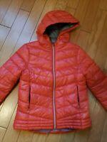 EUC ZARA girls red coat jacket with hood size 11-12