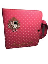 Juicy Couture 3-Ring Binder w/Juicy Couture Pouch & Notepaper Inside Notebook