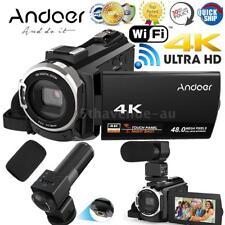 WiFi 4k Ultra HD 48mp Touchscreen Digital Video Camcorder Camera DV Microphone
