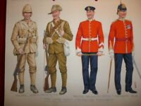 Original Military Watercolour Loyal North Lancs (47th Foot) by Charles Stadden