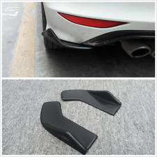 2x Black Rear Bumper Spoiler lip Diffuser Rocker Winglet Scratch Guard Universal