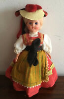 Gorgeous Vintage Celluloid & Hard Plastic Austrian Doll Blue Sleep Eyes