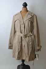 NWT Women's Kenneth Cole New York Tan Trench Coat XL