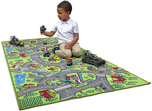Crawling Game Play Mat Floor Car Activity Road Toddler Baby Kids Rug Carpet Toy