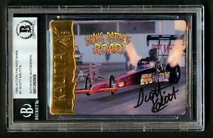 Scott Kalitta #1 signed autograph auto 1995 Action Packed NHRA Card BAS Slabbed