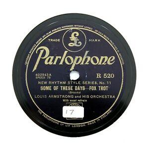 116) 78 RPM ARTIST BUNDLE - 5 x Louis Armstrong - English PARLOPHONE [78 RPM]