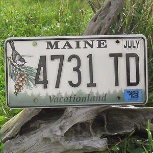 Véritable Plaque D'Immatriculation du Maine ( 4731TD ) - USA - License Plate Bis
