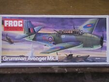 1/72 Frog GRUMMAN AVENGER Mk.II Original Issue 1973 kit Royal Navy TBM, TBF  OOP