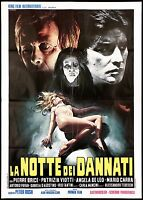 LA NOTTE DEI DANNATI MANIFESTO FILM HORROR SEXY PETER RUSH 1971 MOVIE POSTER 2F