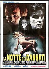 LA NOTTE DEI DANNATI MANIFESTO FILM HORROR SEXY PETER RUSH 1971 MOVIE POSTER 2F