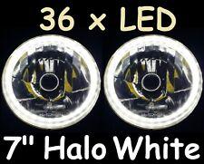 "1pr White LED Halo 7"" Round Headlights fit Land Rover Defender 90 110 130"