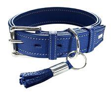 collier cuir chien petit hunter cannes 35  19-27 cm 63307 bleu