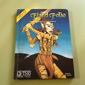 '81 Advanced AD&D Fiend Folio Dungeons & Dragons HB 1st d&d hardcover gygax gary