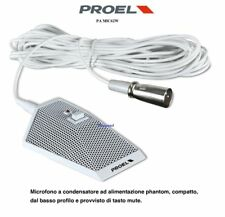 PROEL Pa Mic62w CONDENSER MICROPHONE TABLE A SOLE SHOOTING ENVIRONMENTAL