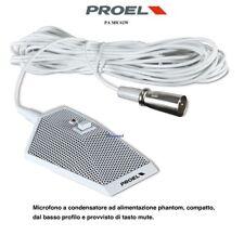 PROEL Pa Mic62w MICROPHONE À CONDENSATEUR DE TABLE