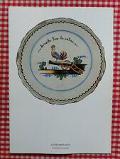 AIR FRANCE - menu  série Assiette révolutionnaire Veille 1989 Paris Philadelphie