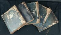 Antique Japan Buddhist text books Japan temple 1800 woodblock craft