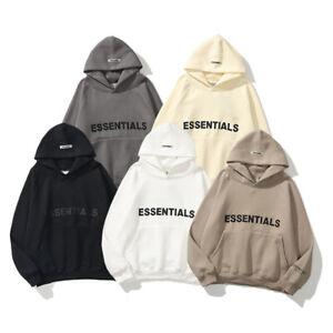 ESSENTIALS FEAR OF GOD Hoodie Couple Sweater FOG Mens Womens High Street Jacket
