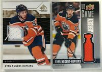 2 Card Jersey Lot Ryan Nugent-Hopkins Upper Deck Sp Game Used Edmonton Oilers