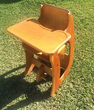 VINTAGE HIGH CHAIR, ROCKING HORSE, AND CHILD DESK