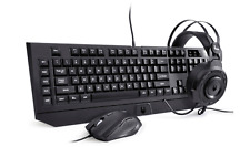 NEW Lexma Phantom Gaming Starter Kit w/ Headset, Mouse & Keyboard - Black - NIB